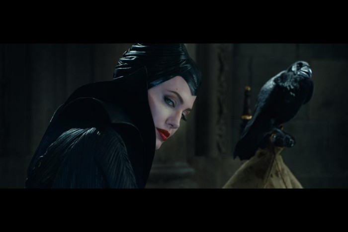 Maleficent and Diaval (the crow)