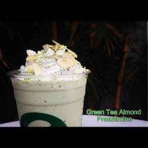 green tea almond