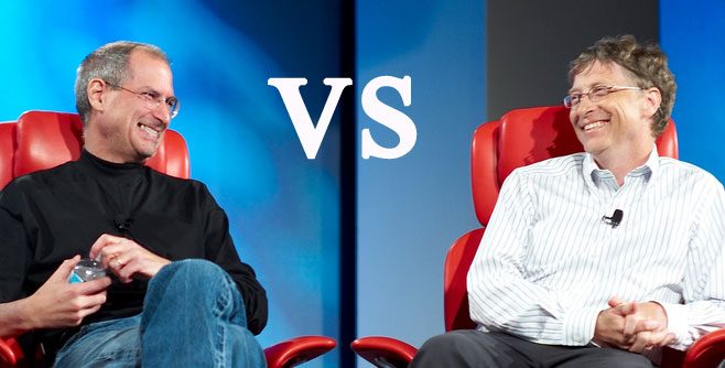 Steve Jobs verses Bill Gates