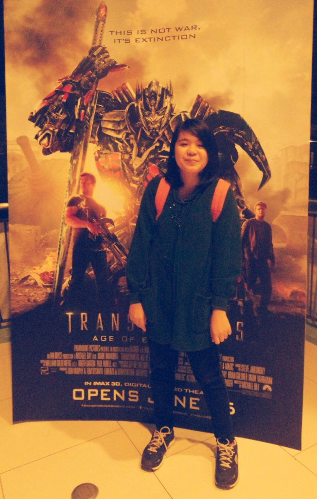 Me after the show of Transformers Age of Extinction