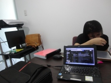 My older sister studying at my office--yeah, she uses it for study purpose.
